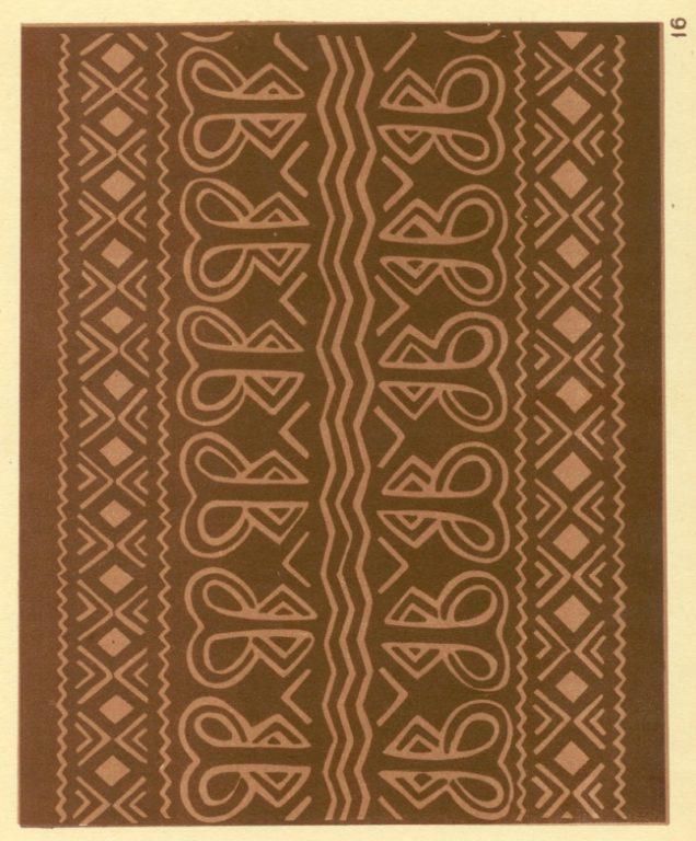 Орнамент на берестяной кошелке. <br/>1924 год