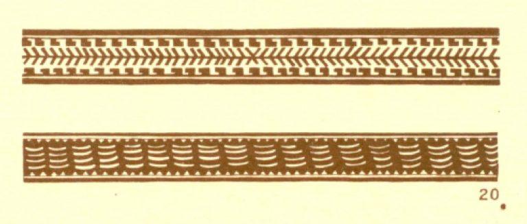 Орнаменты на бересте. <br/>1920-1930 годы