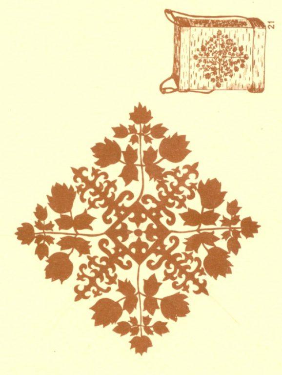 Кошелка. Растительный орнамент. <br/>1924 год