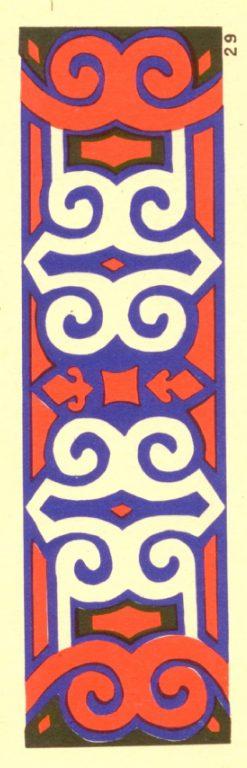 Орнамент ковра, кочмы, деревянных изделий