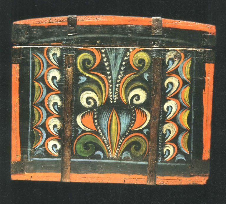Painted chest. <br/>Second half of 19th century