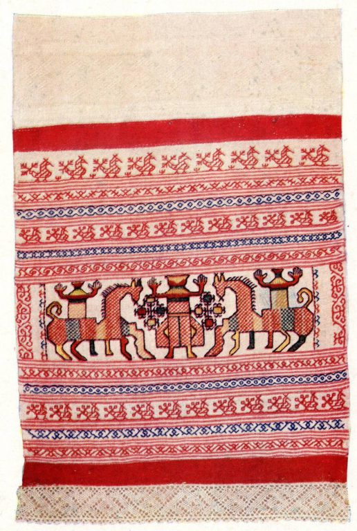 Towel. <br/>Late 18th century - early 19th century