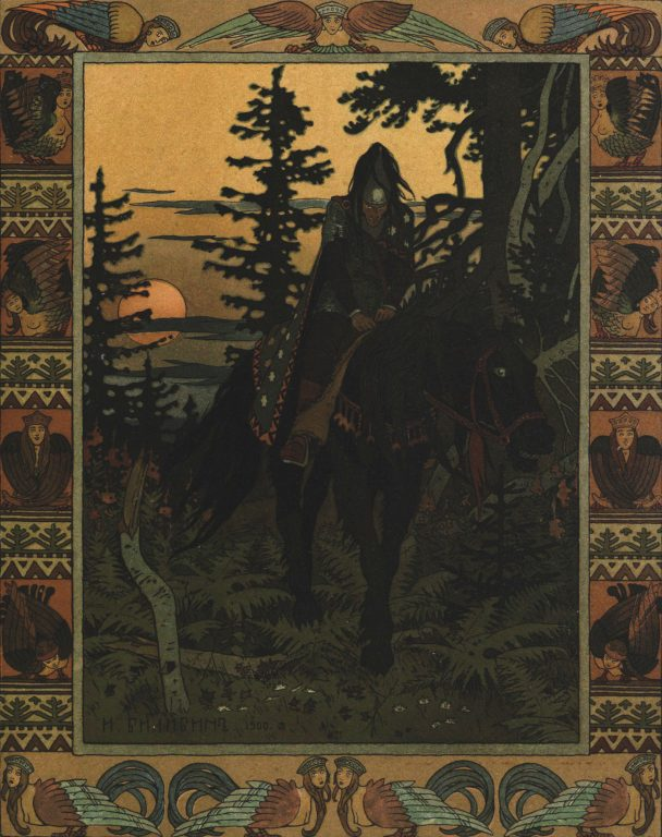 Ivan Bilibin's artwork for the fairy tale Vasilisa the Beautiful. 1900 year