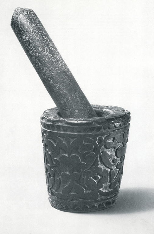 Mortar and pestle. <br/>Second half 19th century
