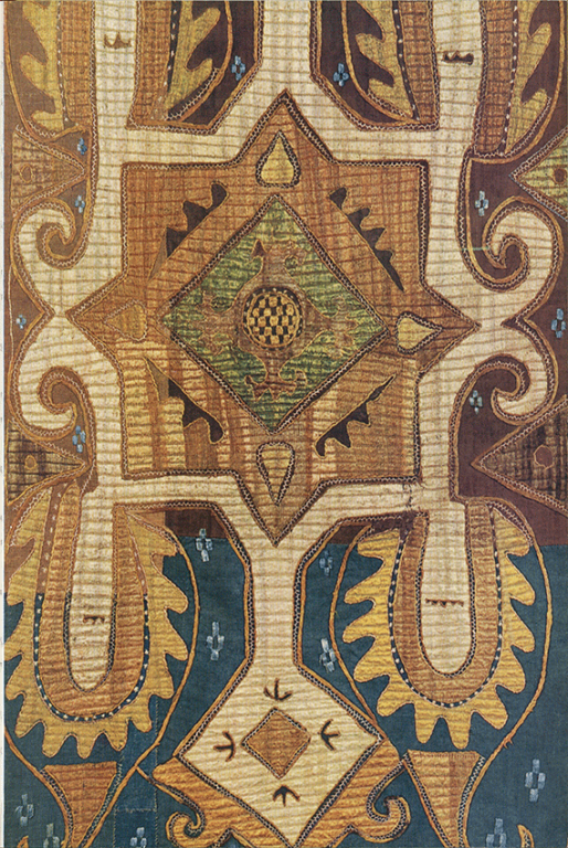 Pillow (front). Fragment. 18th century
