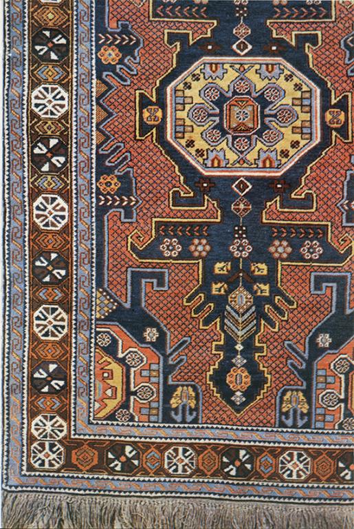 """""""Djakul"""" pile rug. Fragment. <br/>1870-1890ies years"""