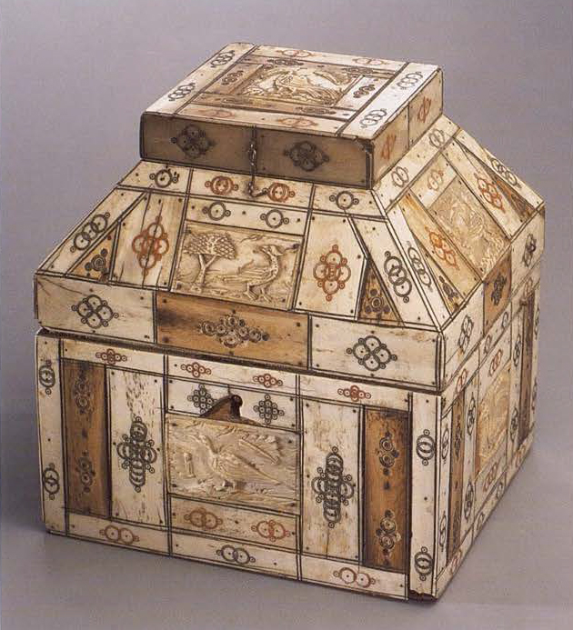 Casket of teremok form. 1st half of the 18th century