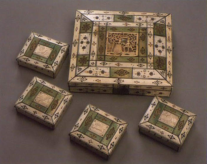 Box for card chips. <br/>1730 - 1750 years