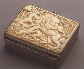 Snuffbox. <br/>1st half of the 18th century