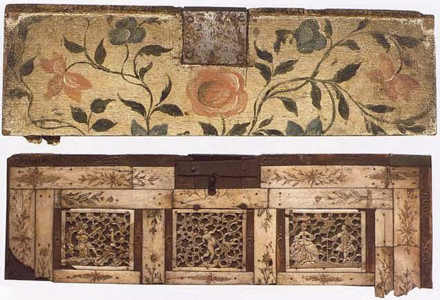 Plate. Casket or desk detail. <br/>1750 - 1770 years