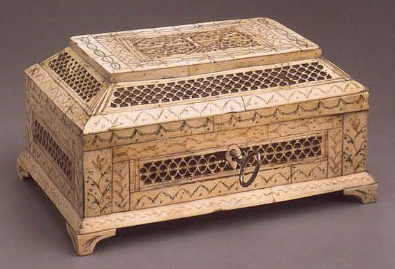 Casket of teremok form. <br/>Late 18th - early 19th century
