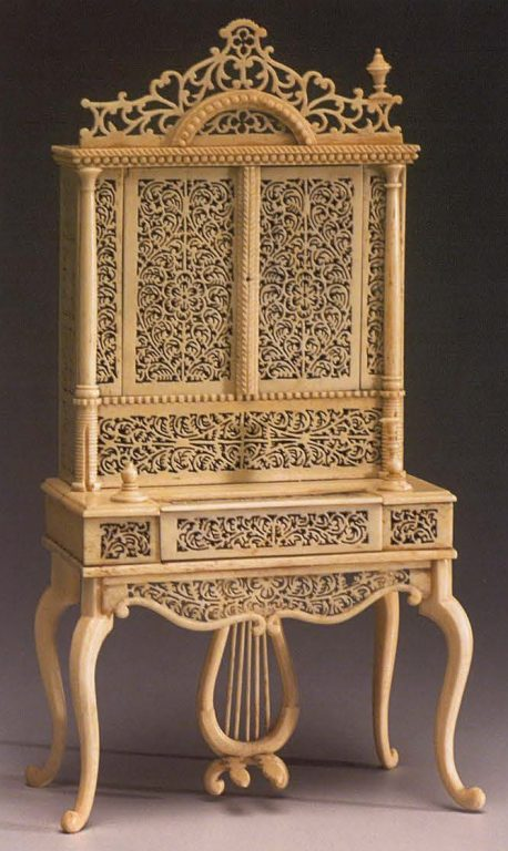 Cabinet with a clavicord. <br/> 19th century