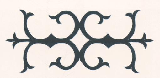 Рисунок на войлочных коврах, изготовлявшихся ингушскими мастерицами на продажу. <br/>19 век