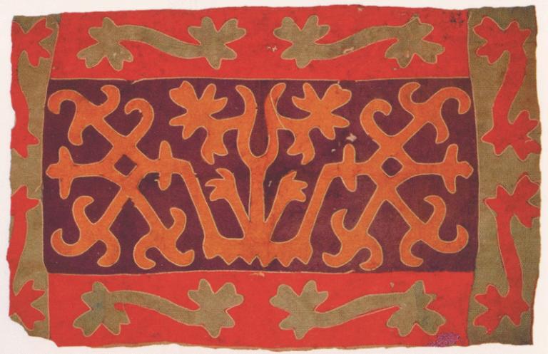 Войлочный ковер семьи Даурбековых. <br/>19 век