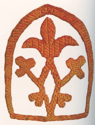 Фрагмент вышивки. <br/>Середина 19 века