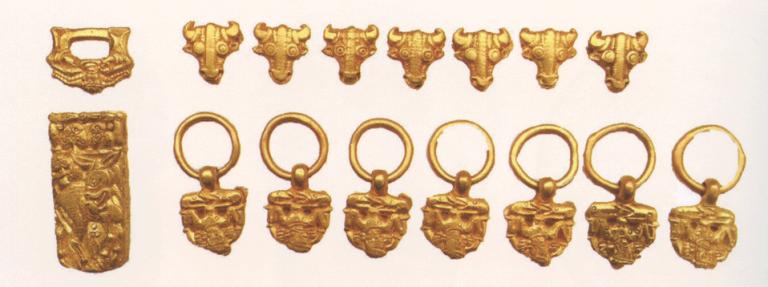 Гарнитура пояса. 7-8 век