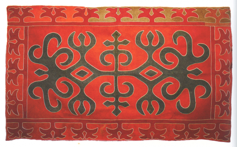 Felt carpet of sisters Kodzoevih. <br/>Early 20th century