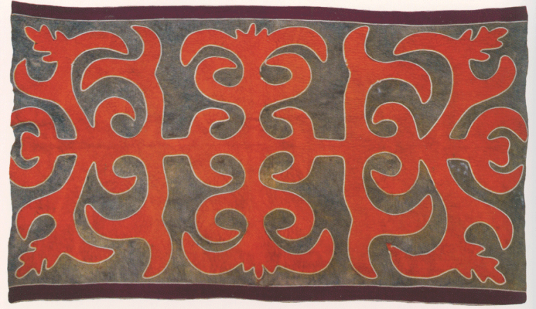 Ingush felt carpet. <br/>Early 20th century