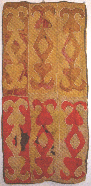 Prayer felt rug of Akhilgova Khazhar. <br/>20s of the 19 century