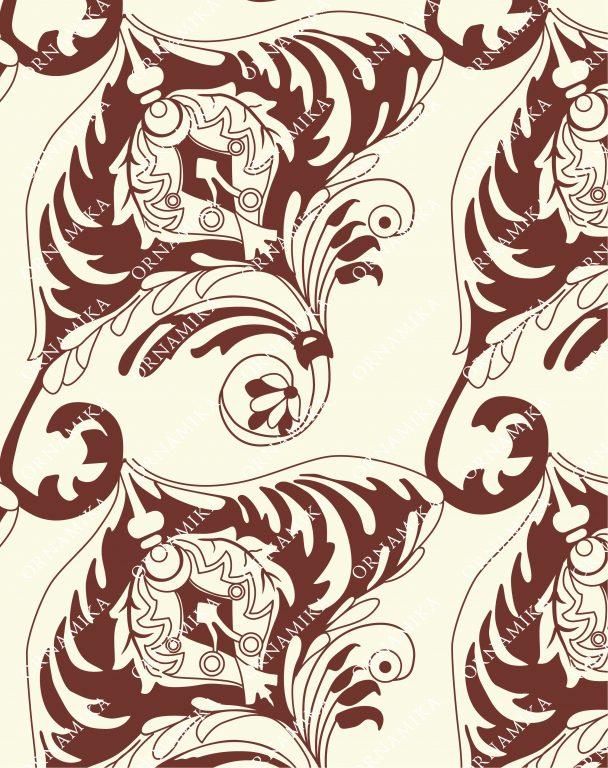 """Реконструкция узора из книги С. Н. Писарева """"Древнерусский орнамент"""" 1903 года"""