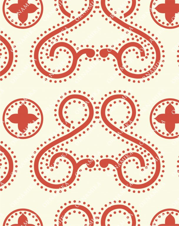 """Reconstruction of the pattern from S. Pisarev book """"Old Russian ornament"""", published in 1903 year"""