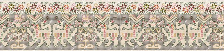 Реконстукция орнамента полотенца центральной России