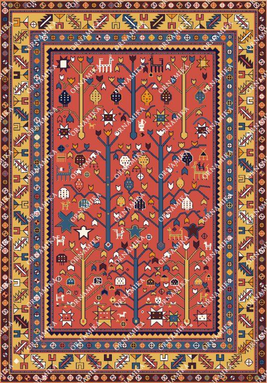 Реконструкция орнамента дагестанского ковра
