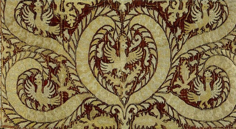 Phelonion shoulders embroidery sample. <br/>Second half of the 17th century