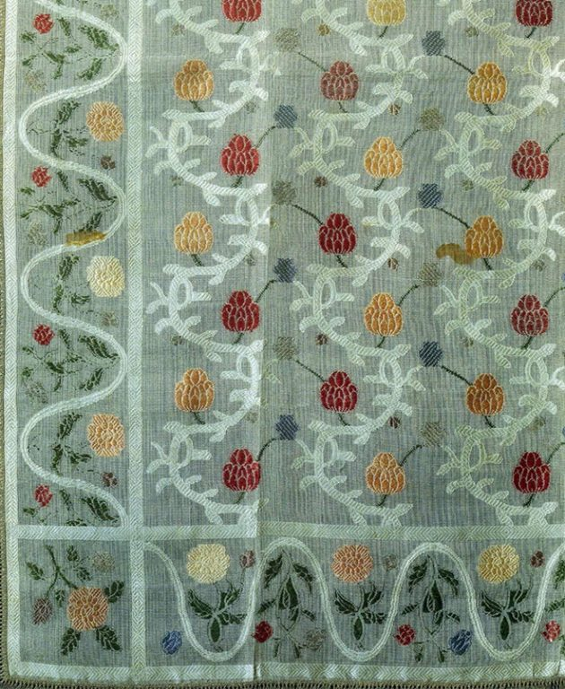 Patterned silk headscarf. <br/>1st quarter of the 19th century
