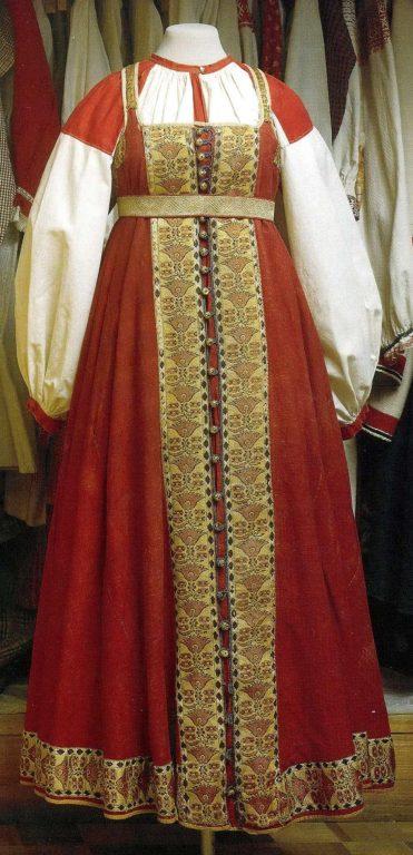 Праздничная одежда крестьянки. Первая половина 19 века