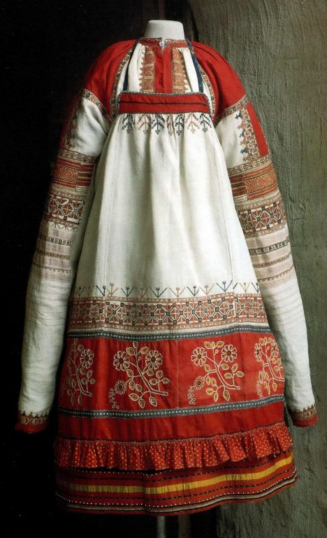 Festive clothes of a peasant woman. <br/>Second half of the 19th