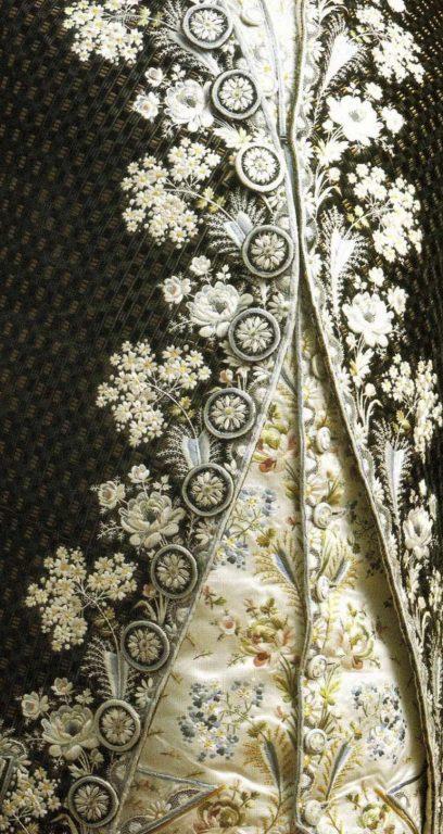 Corded velvet kaftan . <br/>1790 years