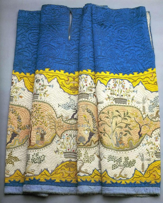 Quilted satin skirt. <br/>1730-1750 years