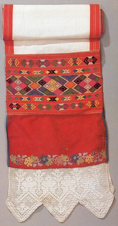 Women's headband of the lower Chuvash (surpan). <br/>19th century