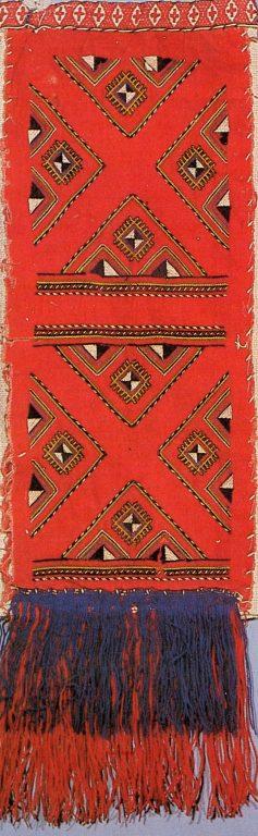Женское набедренное украшение яркӑч верховых чувашей. <br/>19 век