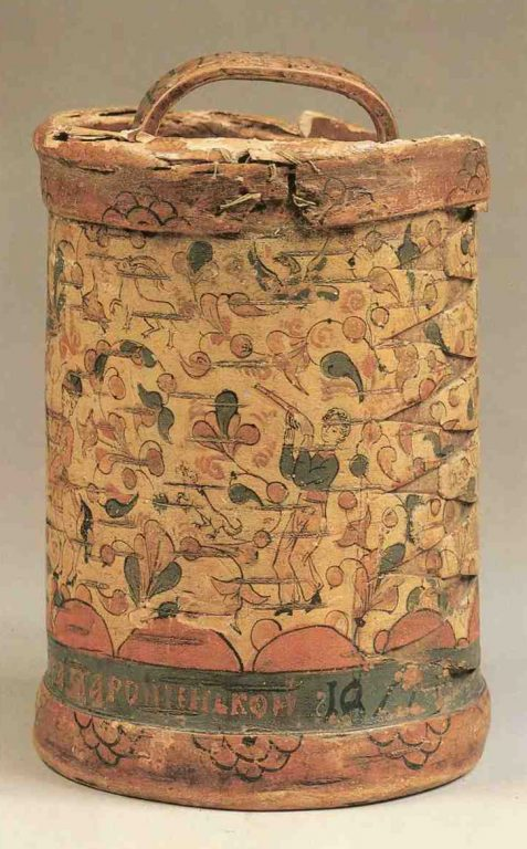 Burak (birch bark basket). <br/>1811 year