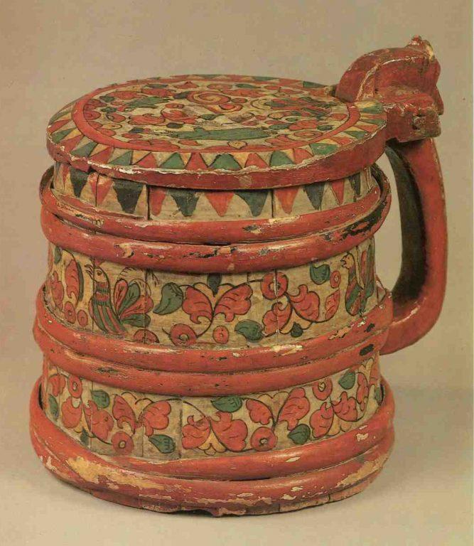 Zhban (wooden jug). <br/>Mid 19th century