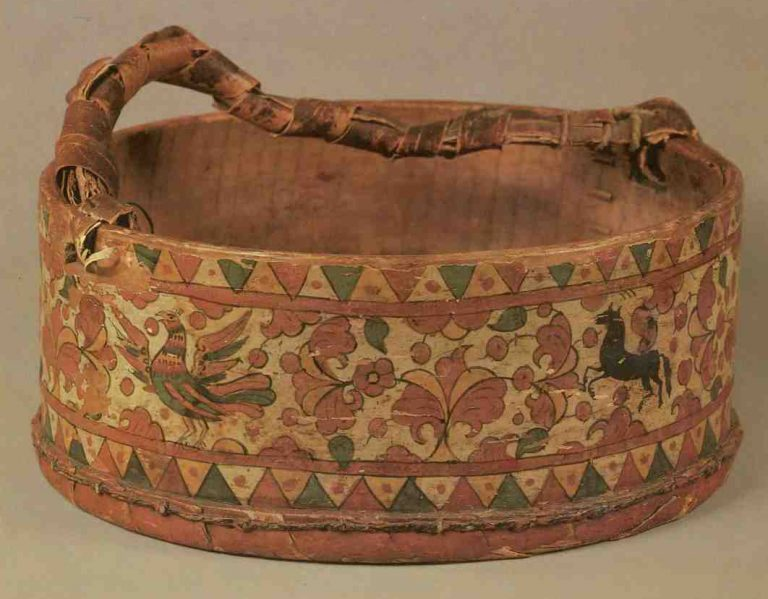 Nabiruha (berry picking basket). <br/>Second half of the 19th century