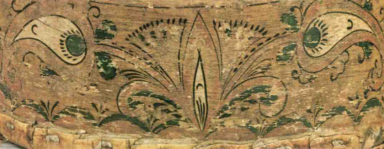 Фрагмент росписи набирухи . <br/>Середина 19 века