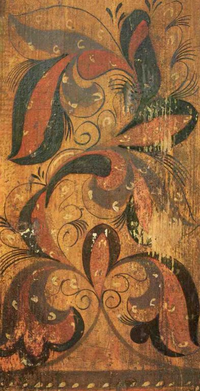 Fragment of distaff painting. <br/>Second half of the 19th century