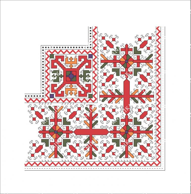 Реконструкция орнамента платка жениха