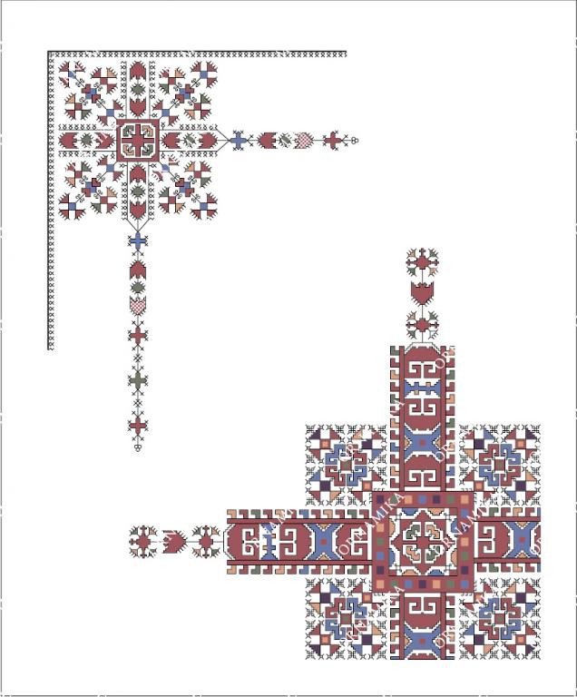 Реконструкция орнамента фрагмента покрывала невесты