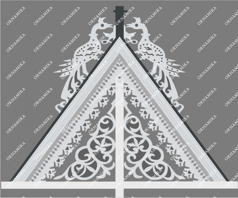 Реконструкция орнамента фронтона дома в Томске