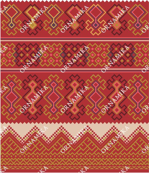 Реконструкция орнамента вышивки рукава женского распашной одежды шушпана