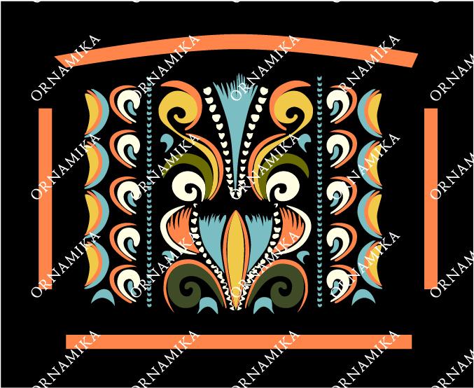 Реконструкция орнамента расписного сундука