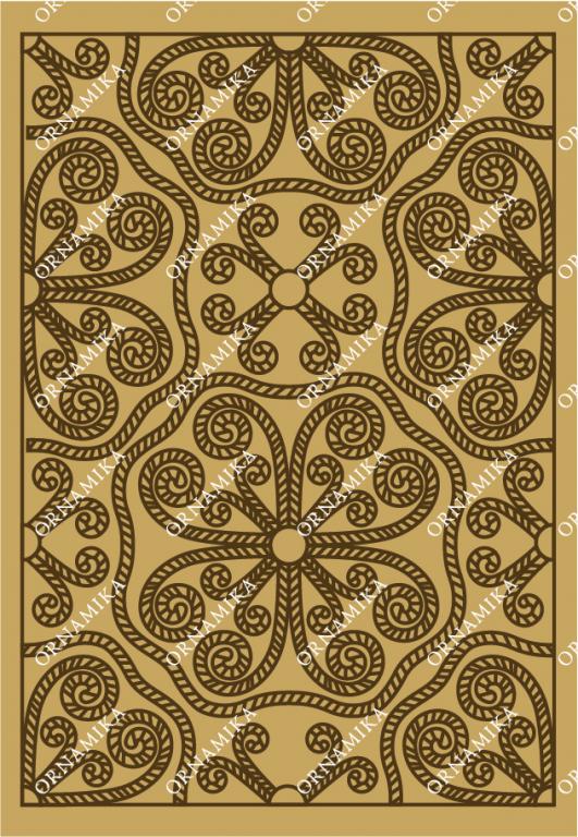 Реконструкция орнамента на серебряной басме на иконе