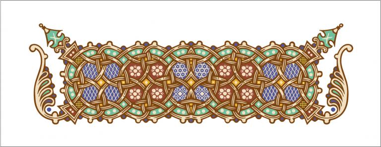 Реконструкция орнамента заставки псалтиря
