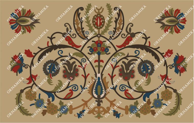 Реконструкция орнамента вышитого полотенца в Патриаршей ризнице