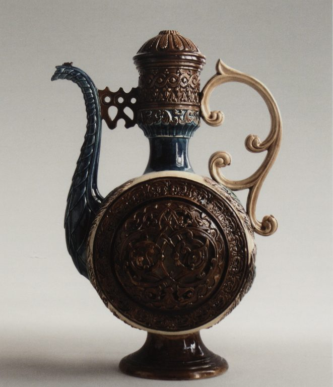 """Peacock"" pitcher. <br/>1880ies"