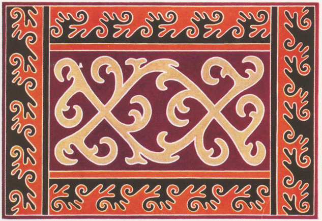 Ингушский войлочный ковер. <br/>1889 год
